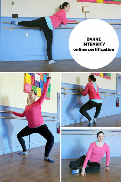 Looking for a barre fitness certification to bring a class into your area? Check out Barre Intensity - they even have an online training option!