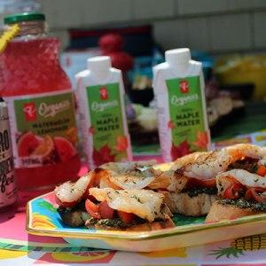 Garlic Herb Shrimp and Pesto Crostini #SummerStateofMind #PCInsidersCollection