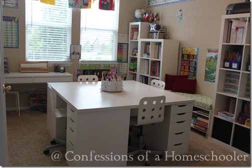 Our Ikea School Desks   Confessions of a Homeschooler IMG 7227web
