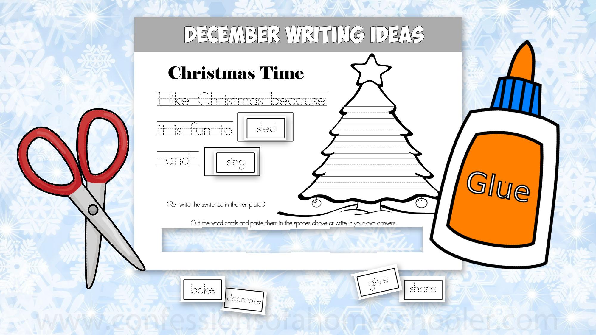 December Kindergarten Writing Prompts