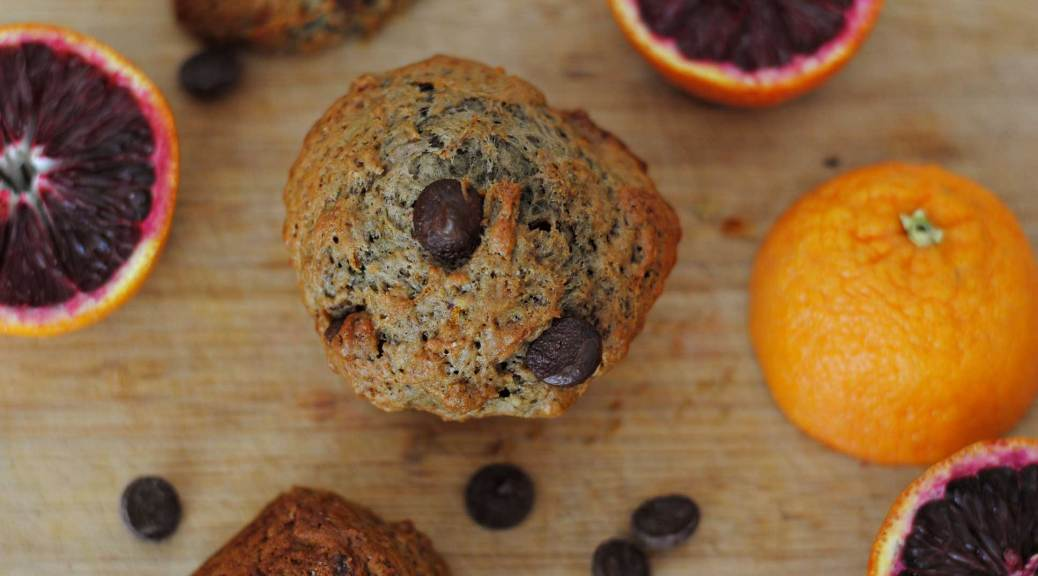 Blood Orange Chocolate Chip Muffins | Confessions of a Midnight Baker