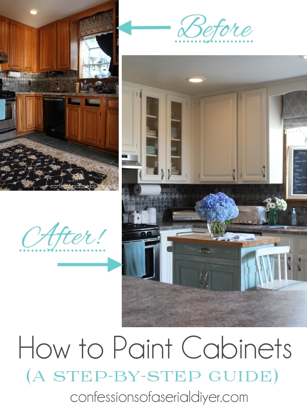 how to paint kitchen cabinets the right way confessions on best paint for kitchen cabinets diy id=87049