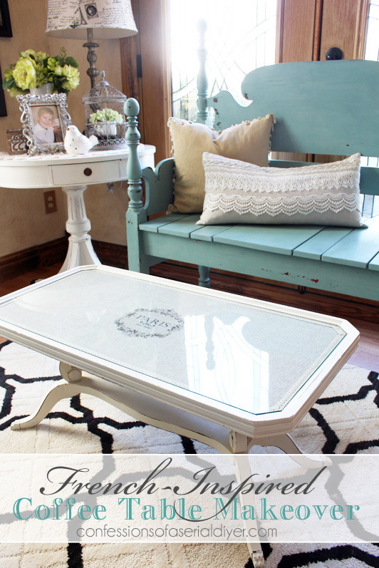 french inspired coffee table makeover