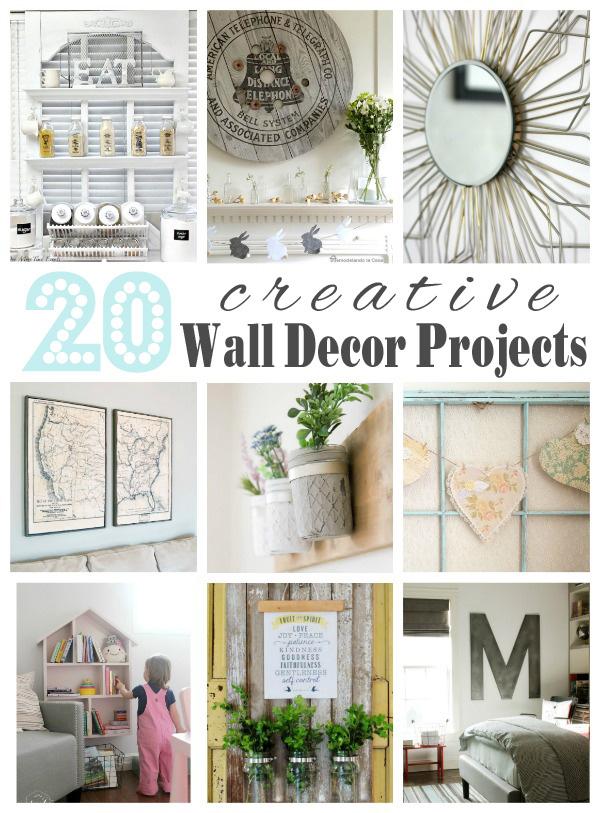 20 Creative Wall Décor Ideas {Get Your DIY On Features ... on Creative Wall Design Ideas  id=40453