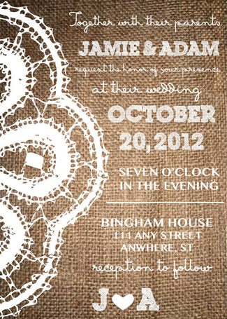 Printable Rustic Wedding Invites