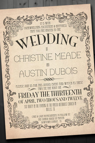 Antique Wedding Invitations And Get Ideas How To Make The Invitation Look Elegant 6