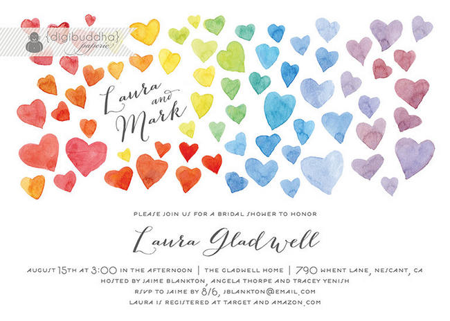 Gorgeous Watercolor Wedding Invitations 1