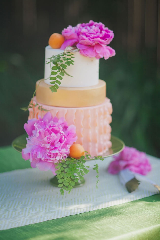 Hot Pink And Orange Watercolor Wedding Alexandra Wallace