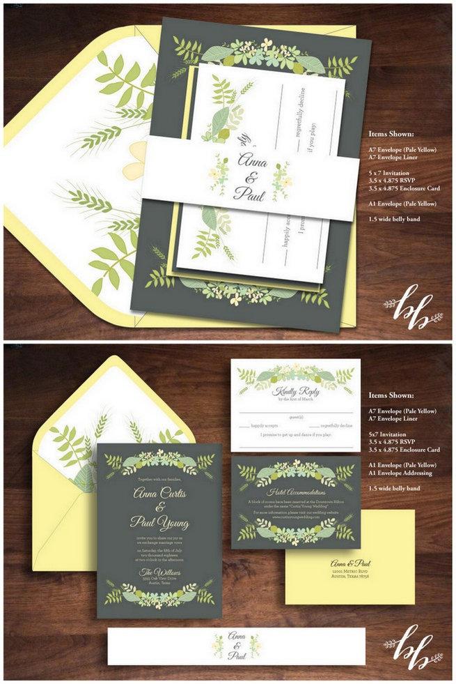 Banana Yellow Wedding Invitation Iwi147