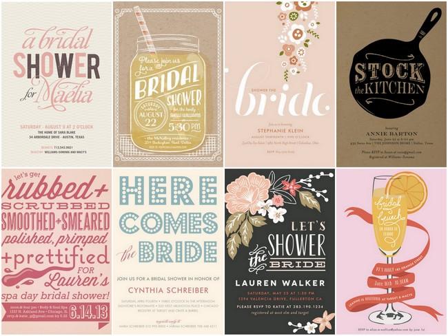 Her Dress Bridal Shower Invitations