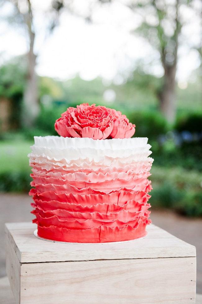 25 Ombre Amp Ruffle Wedding Cake Wonders