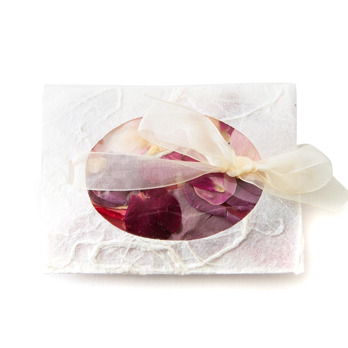Rainbow Small Natural Rose Petals Confetti Envelope