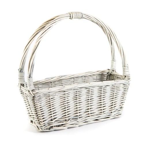 small white basket