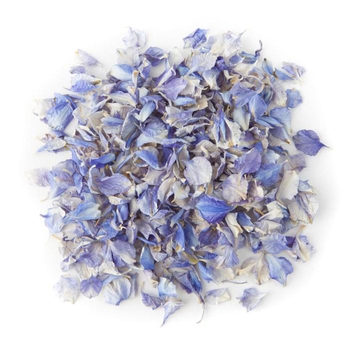 Azure Blue Delphinium Confetti