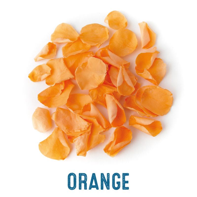 Light orange coloured Rose Petal Confetti