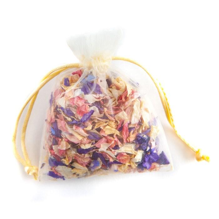 Biodegradable Confetti - Rainbow Delphiniums - Petal Bag