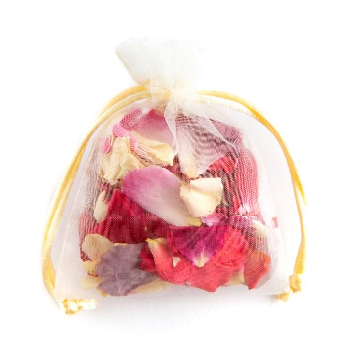 Biodegradable Confetti - Rainbow Rose Petals - Petal Bag