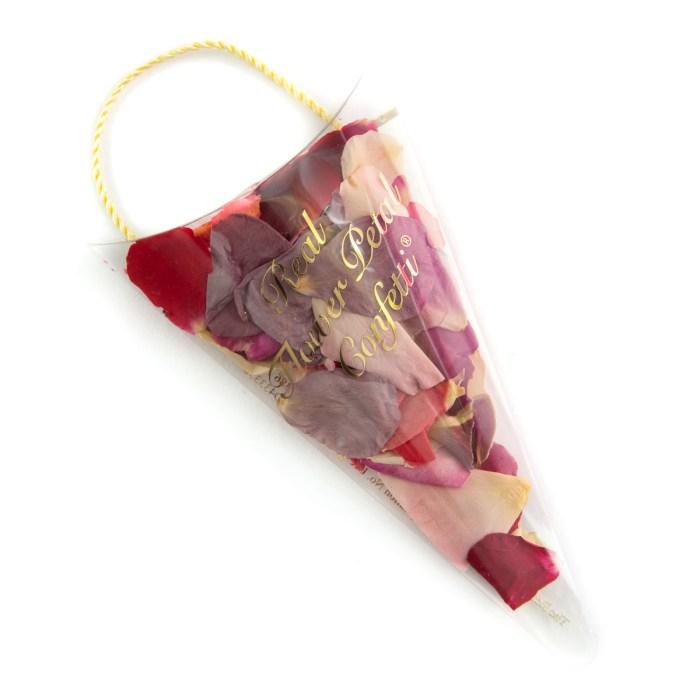 Biodegradable Confetti - Rainbow Rose Petals - Petal Sachet