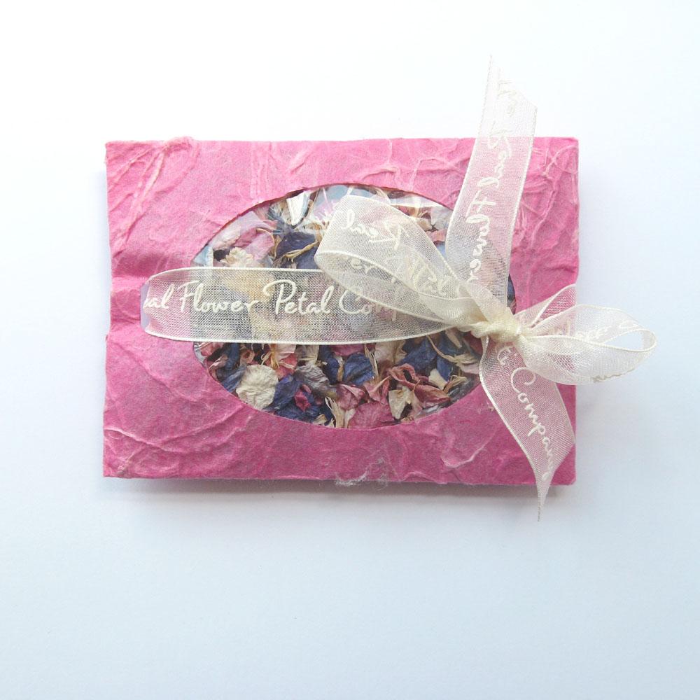pink petal envelopes