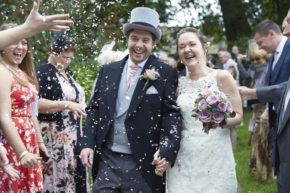 Biodegradable Confetti - a traditional confetti throw in the village churchyard
