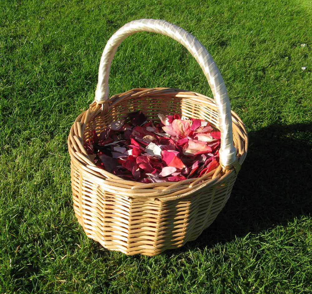 Petal Confetti - Rainbow Small Natural Rose Petal Basket