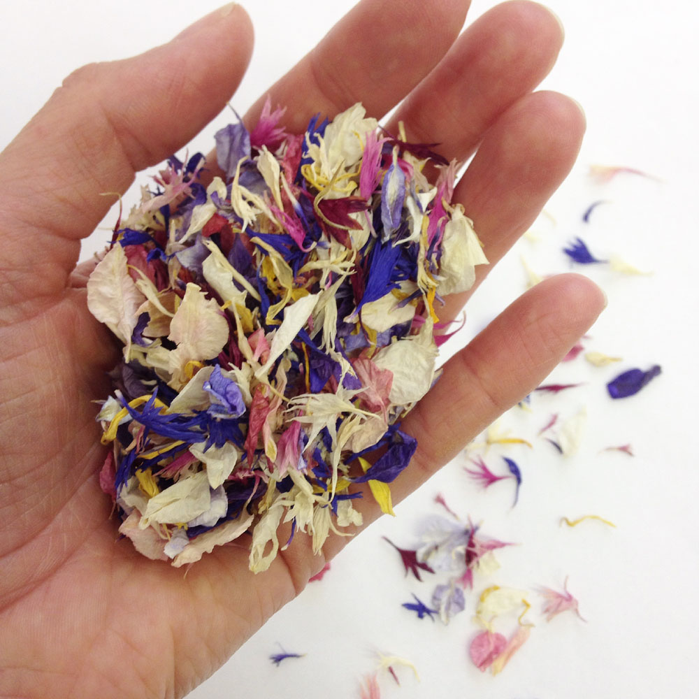 Petal Confetti - Delphiniums, Wildflowers and Lavender - Bespoke confetti mix