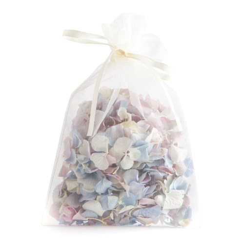 Biodegradable Confetti - Lilac, Blue & White Hydrangea Petals - 10 Handful Bag