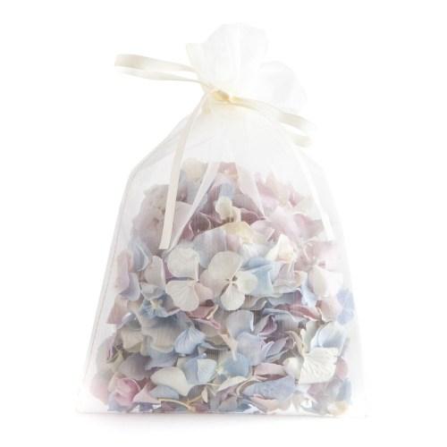 Biodegradable Confetti - Lilac, Blue & White Hydrangea Petals - 10 Handful Bag