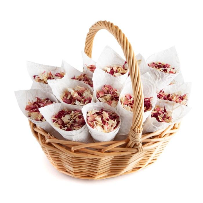 Ruby Twist confetti petals - Biodegradable Confetti - Real Flower Petal Confetti - Confetti Cone Basket