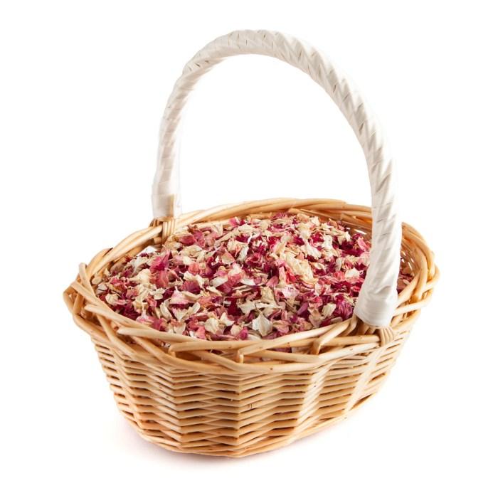 Ruby Twist confetti petals - Biodegradable Confetti - Real Flower Petal Confetti - Basket