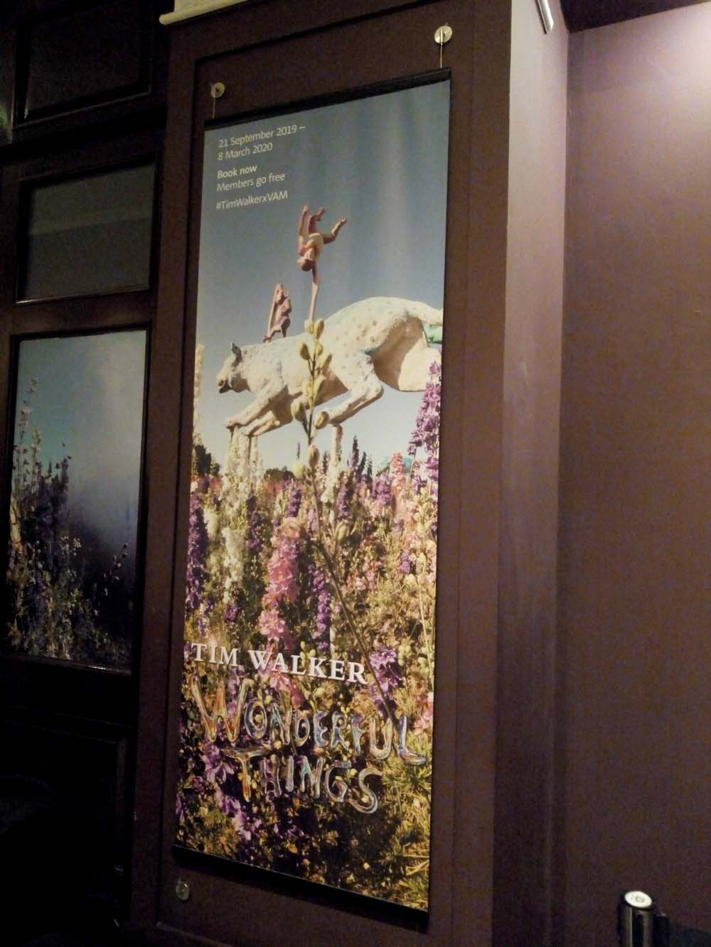 Advertising poster for the Tim Walker Wonderful Things featuring The Confetti Flower Field