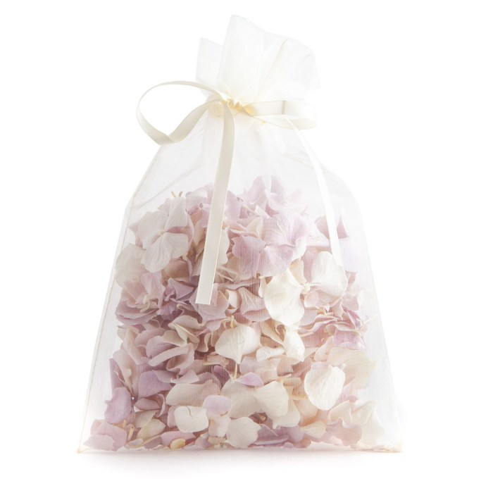 A bag of Lilac and White Hydrangea Petals