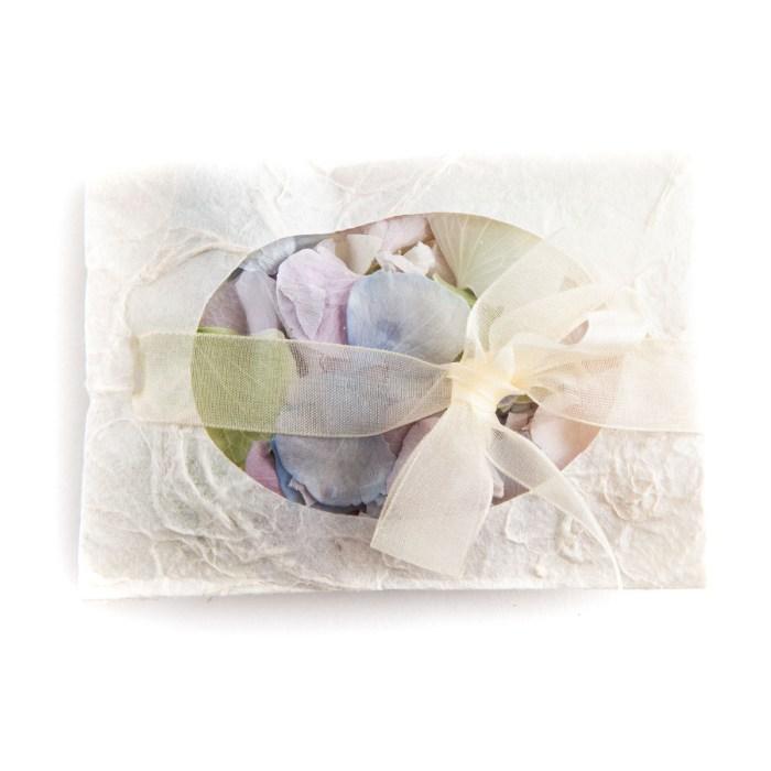 Envelope of Hydrangea Petal Confetti