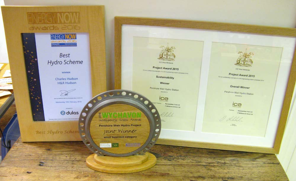 pershore hydro awards
