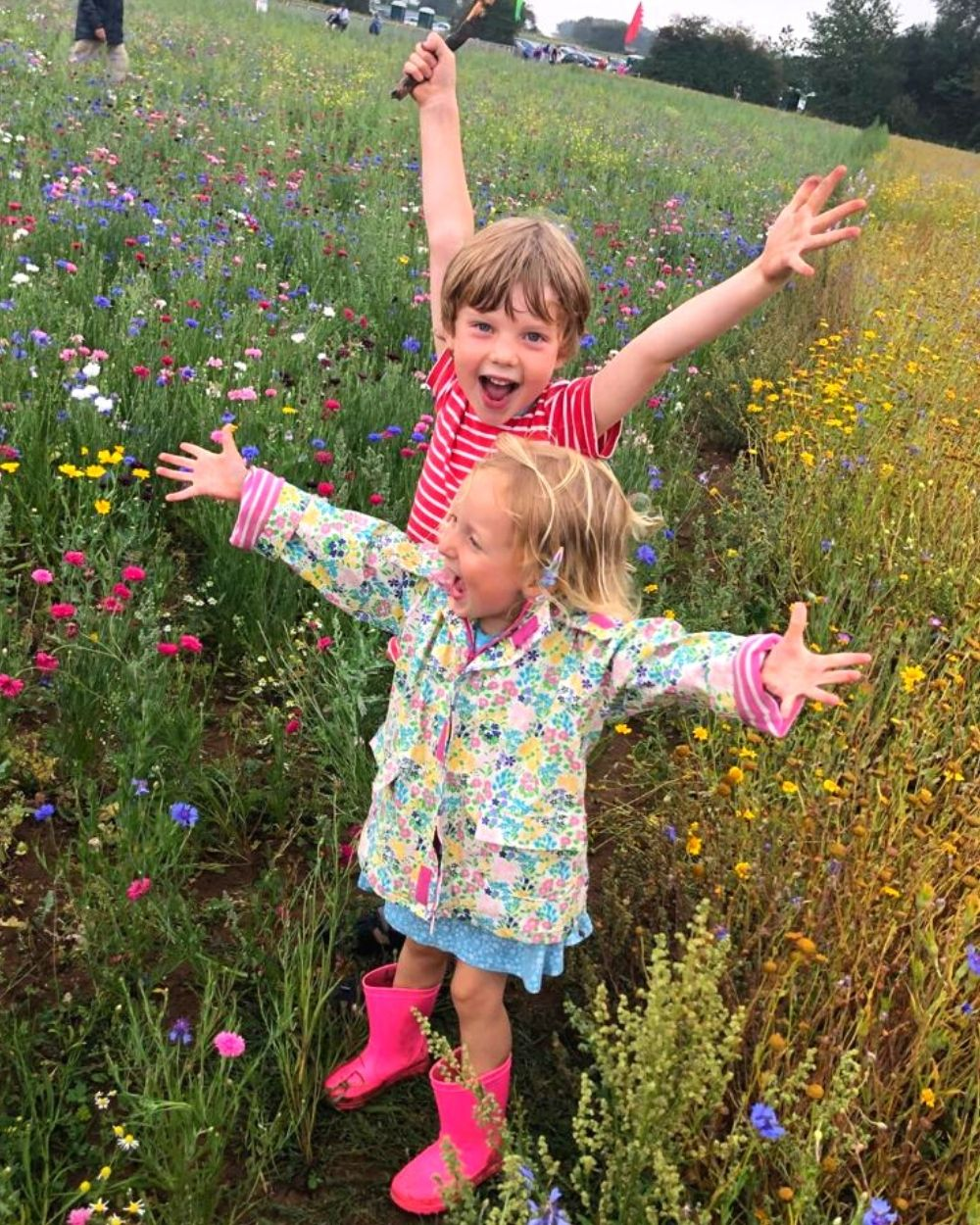 Enjoying the wildflowers in The Confetti Flower Field 2020 - photo by Becky Kay