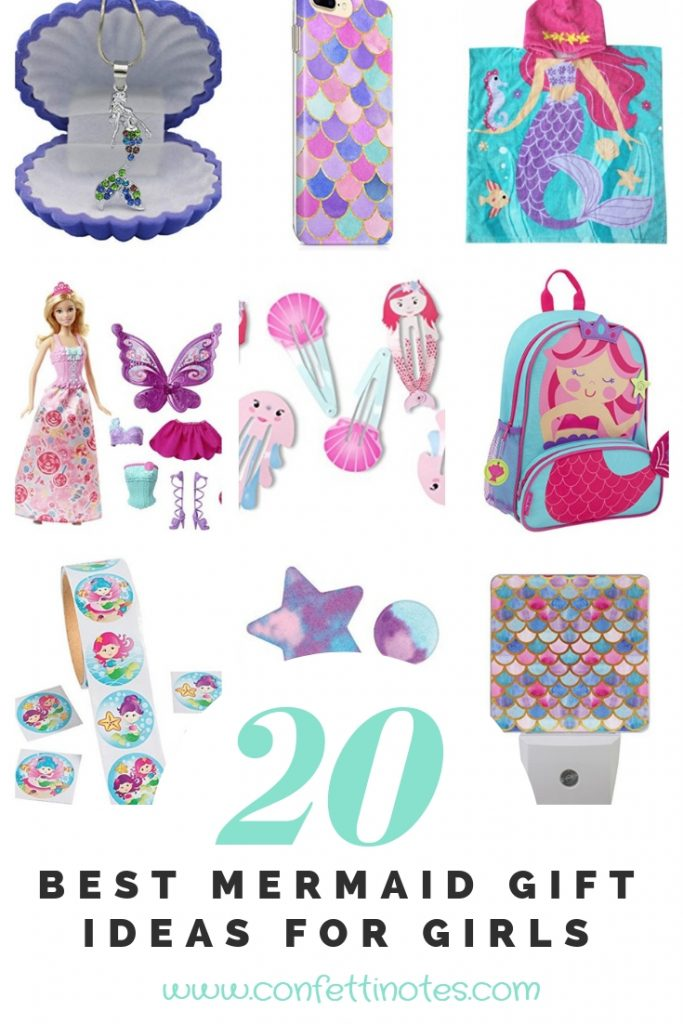Note 4 20 Best Mermaid Gift Ideas For Girls Confetti Notes