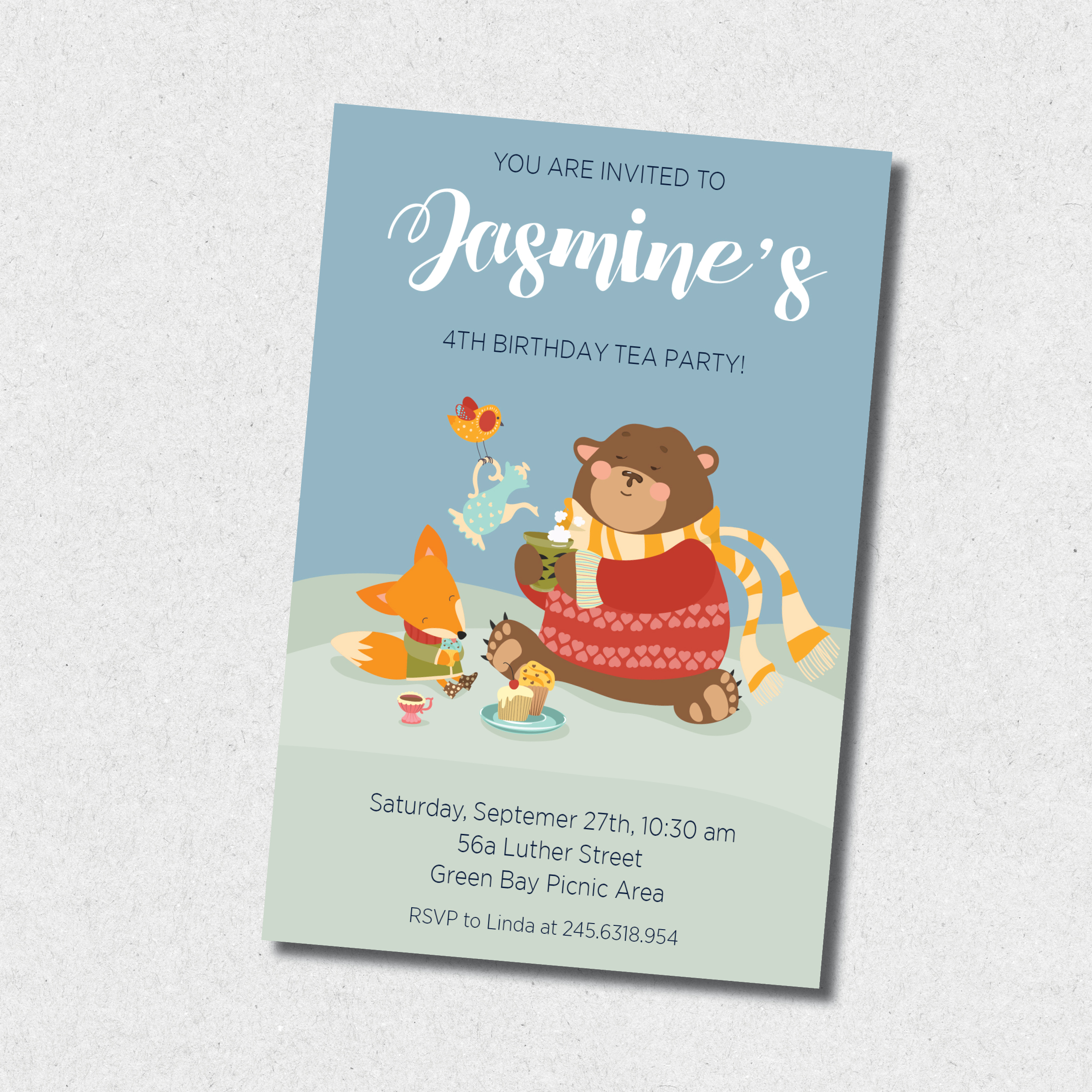 winter tea party birthday invitation confetti party invitations
