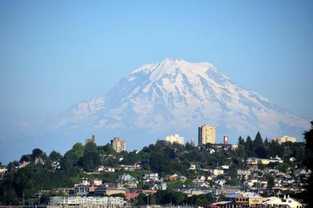 mt. Rainier Tacoma Confetti Travel Cafe