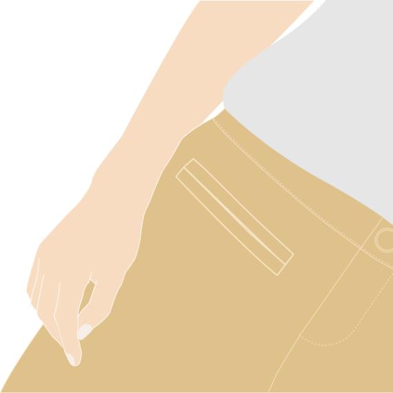 La poche passepoiléé