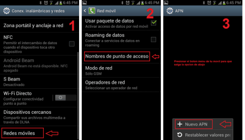 configurar apn movistar colombia en android 2018