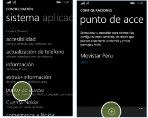 configurar apn movistar peru windows phone 8
