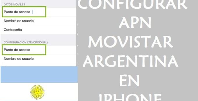 como configurar apn movistar argentina iphone