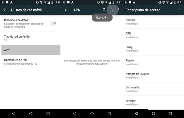 como reparar configurar apn movistar venezuela en android