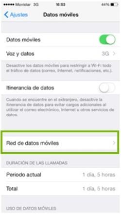 configurar apn movistar argentina iphone 6