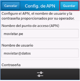 configurar apn movistar blackberry 8520