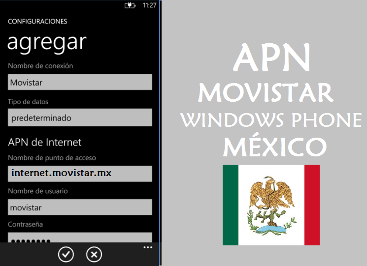 configurar apn movistar mexico windows phone gratis