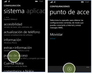 configurar apn movistar mexico windows phone lumia