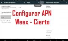 configurar apn de weex y cierto en android y iphone y blackberry