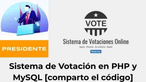 Sistema de Votación en PHP y MySQL [comparto el código]