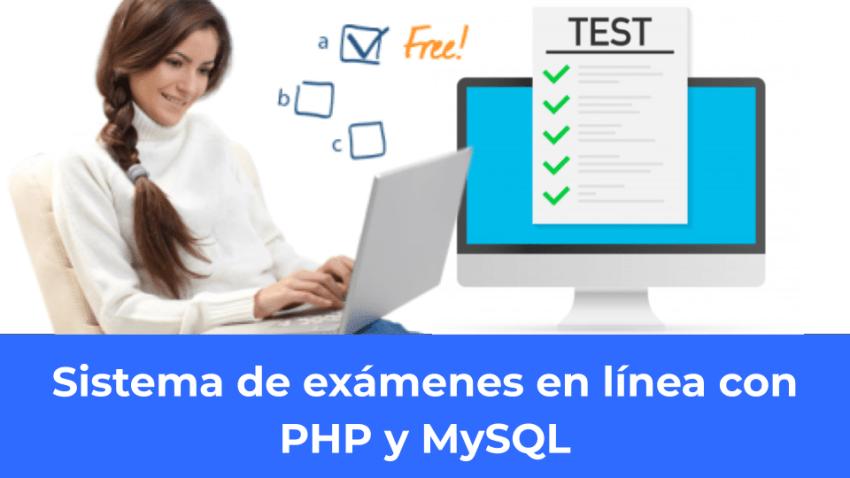 Sistema de exámenes en línea con PHP y MySQL